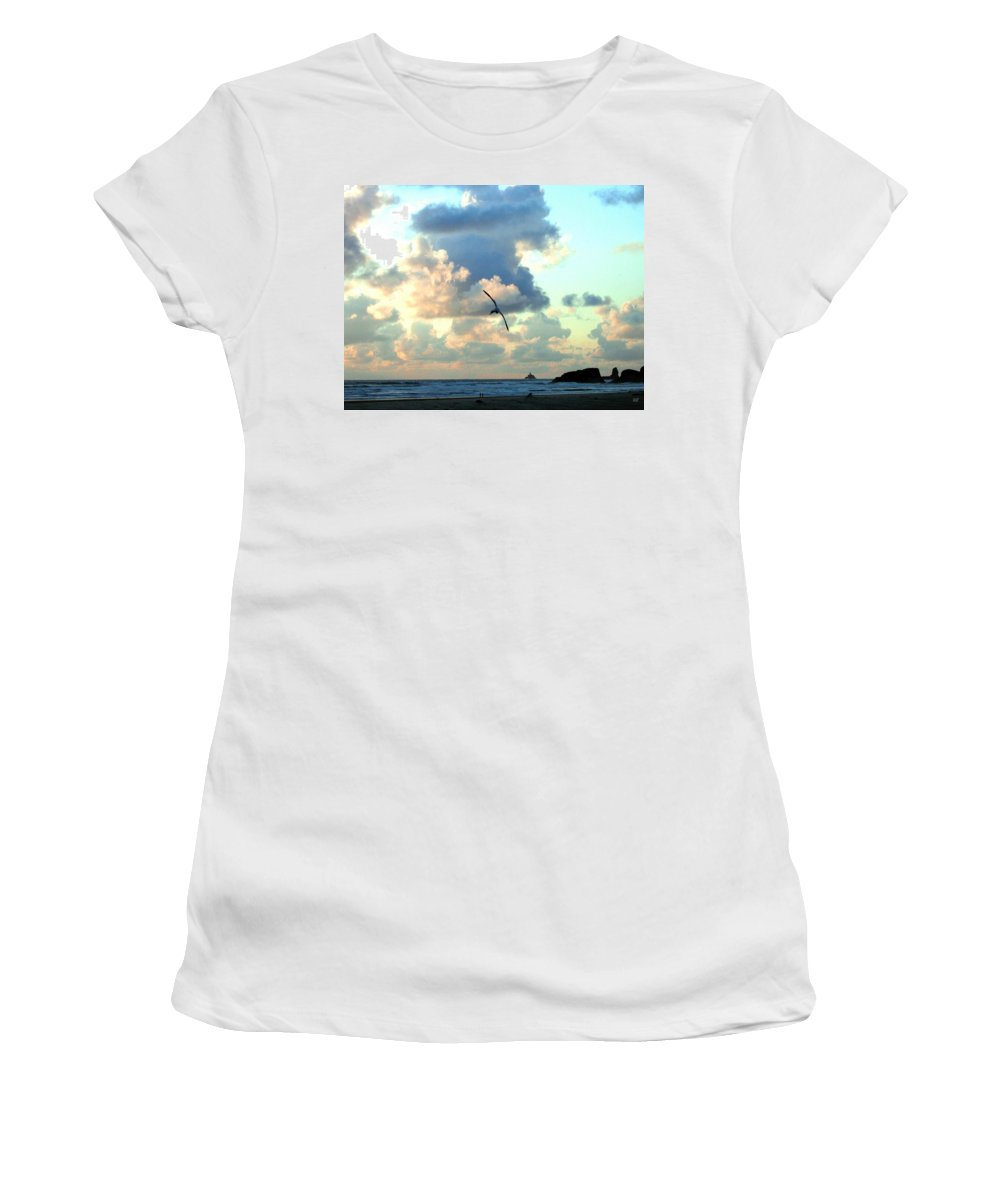 Sunset Women's T-Shirt (Athletic Fit) featuring the photograph Serene Sunset by Will Borden