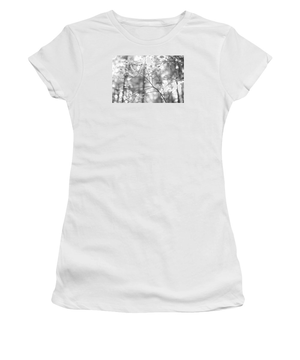 Black And White Women's T-Shirt (Athletic Fit) featuring the photograph Shapes Of Nature by Kathy Paynter