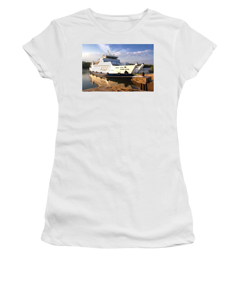Women's T-Shirt (Athletic Fit) featuring the photograph Ship by Charuhas Images