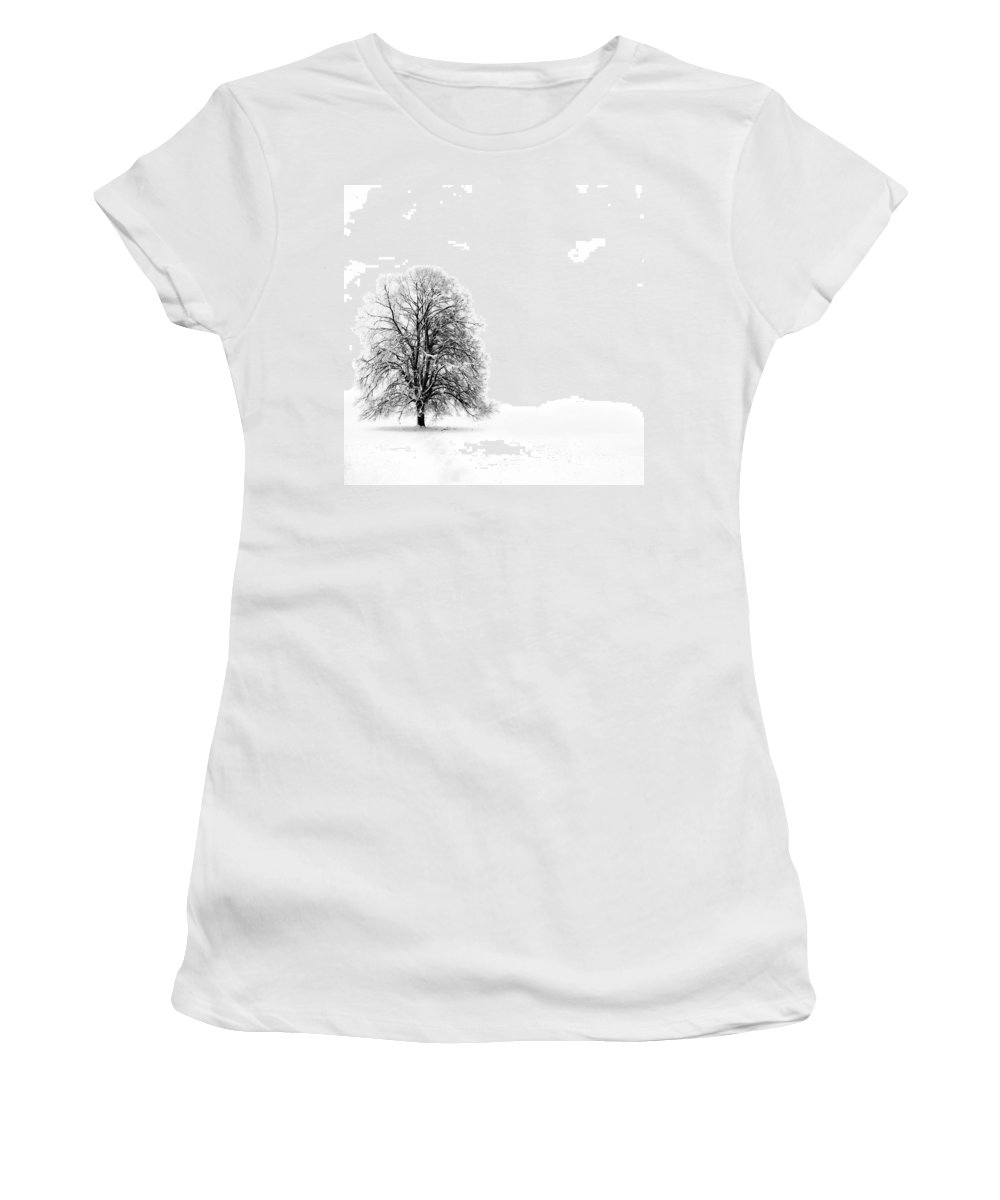 Landscape Women's T-Shirt (Athletic Fit) featuring the photograph Silenzio by Jacky Gerritsen
