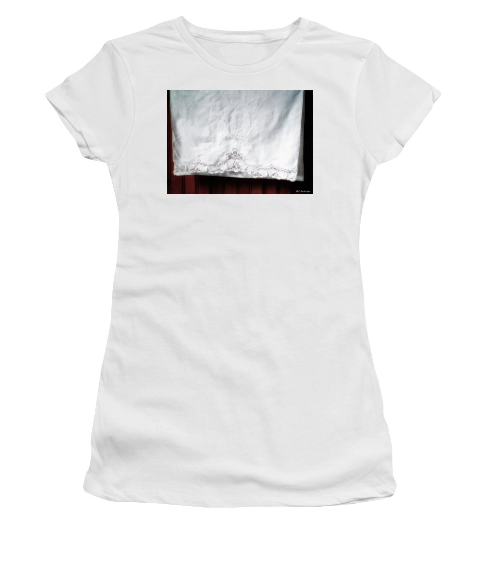 Bedding Women's T-Shirt (Athletic Fit) featuring the painting Simple Elegance by RC DeWinter