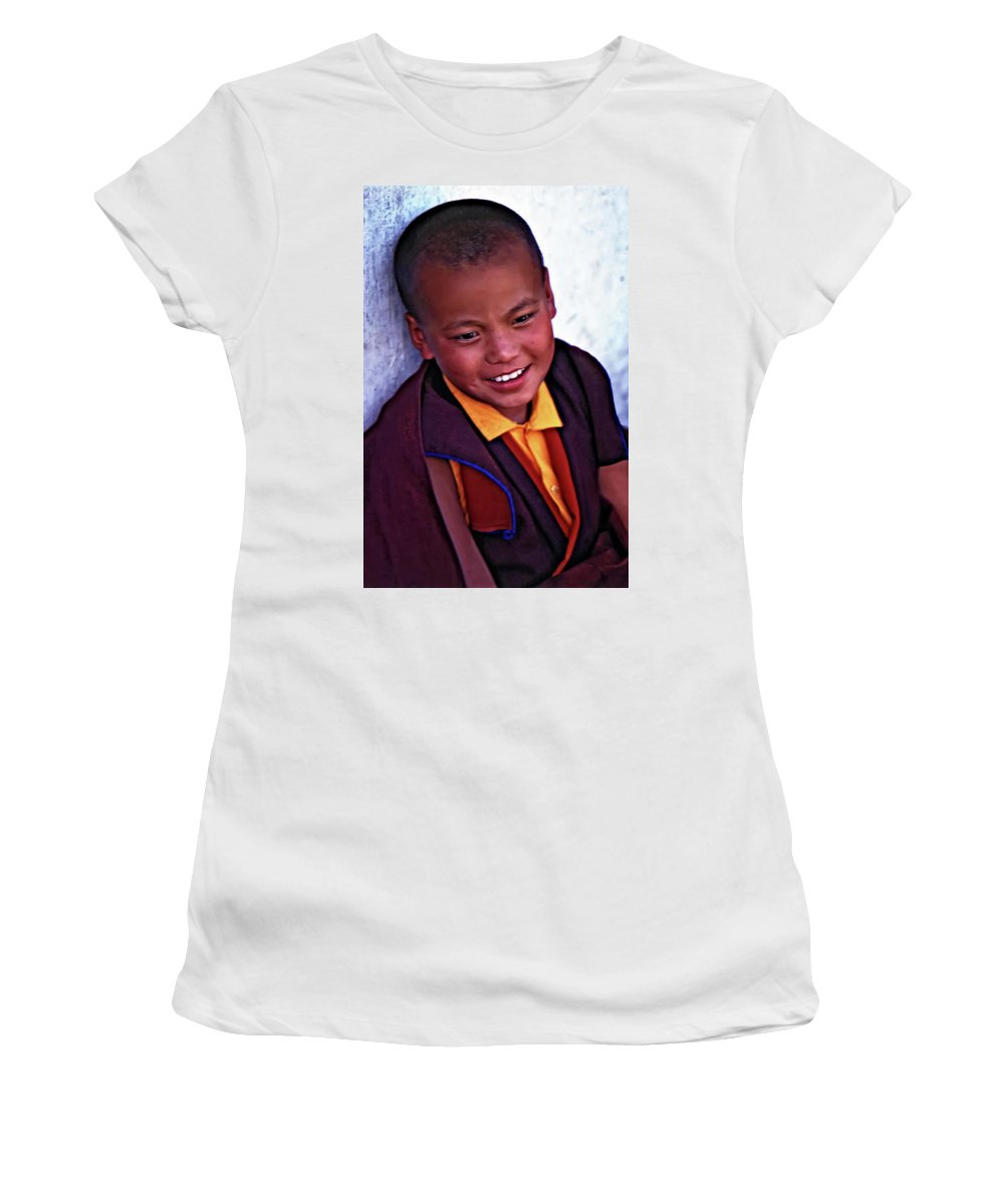 Thailand Women's T-Shirt (Athletic Fit) featuring the photograph Simply Joy by Steve Harrington