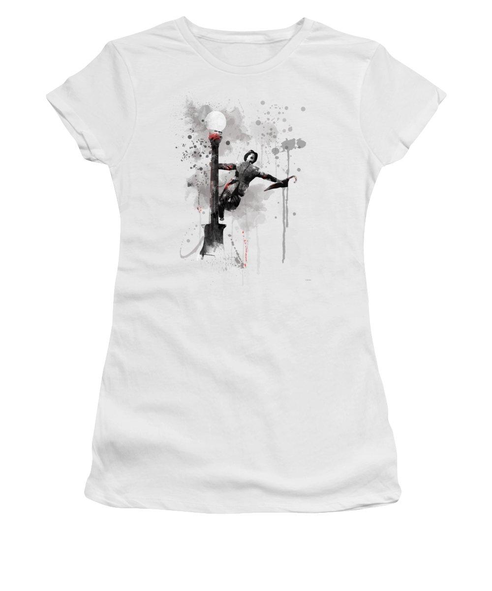 Singing In The Rain Women's T-Shirt featuring the digital art Singing In The Rain by Marlene Watson