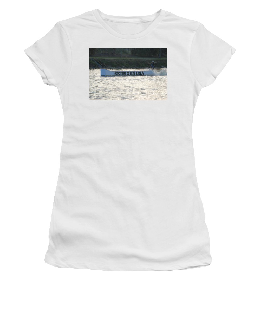 Waves Women's T-Shirt (Athletic Fit) featuring the photograph Skirixen Usa by Rob Hans