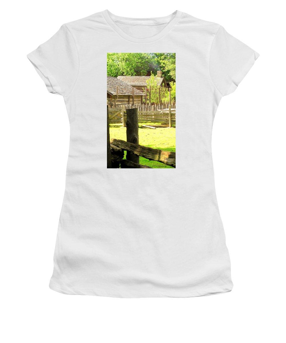 Smoke Women's T-Shirt (Athletic Fit) featuring the photograph Smoke Rising by Ian MacDonald