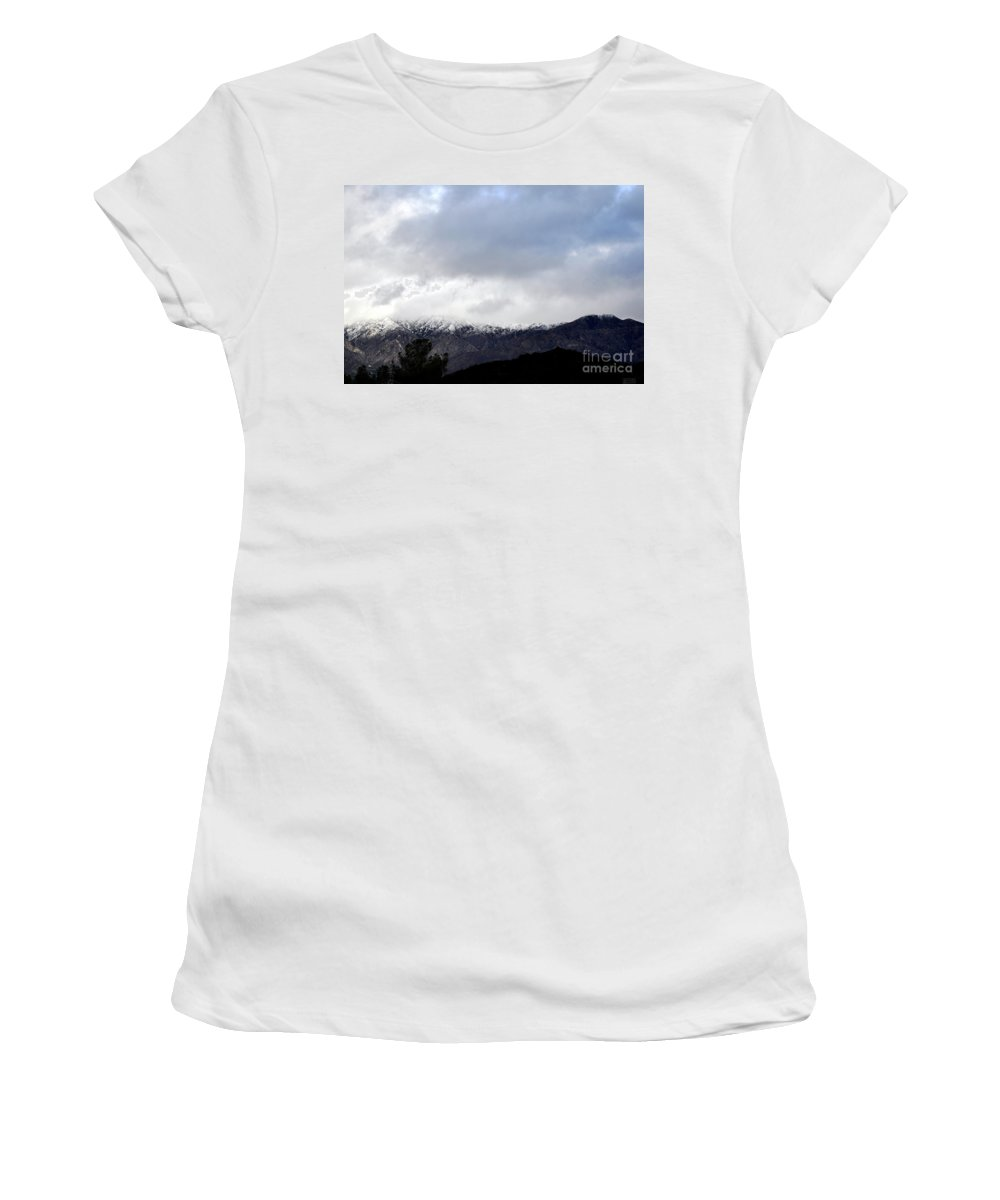 Clay Women's T-Shirt featuring the photograph Snow Line by Clayton Bruster