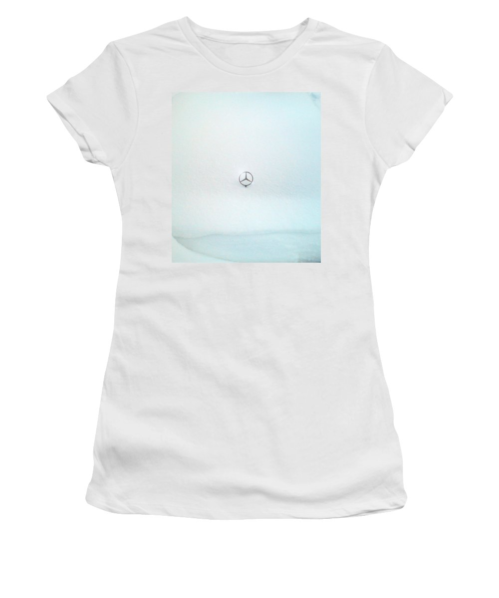 Snow Women's T-Shirt (Athletic Fit) featuring the photograph Snow Star by Are Lund