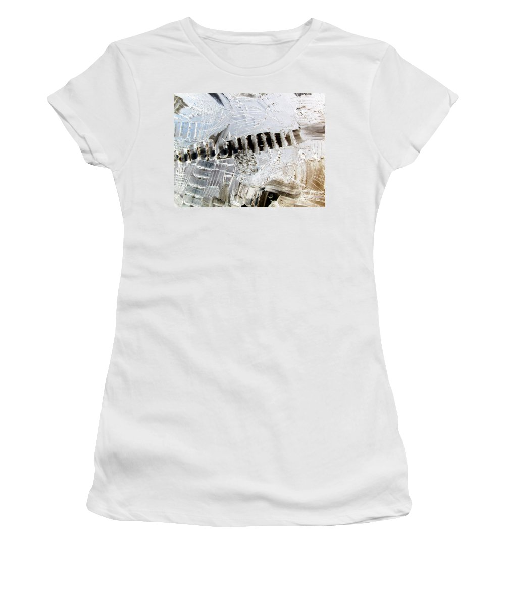 Snow Women's T-Shirt featuring the painting Snow...the Day After by Dawn Hough Sebaugh