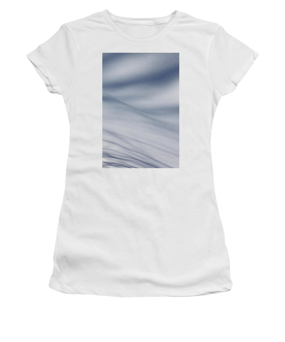 Snow Women's T-Shirt (Athletic Fit) featuring the photograph Snowy Shadows 2 by Lauri Novak