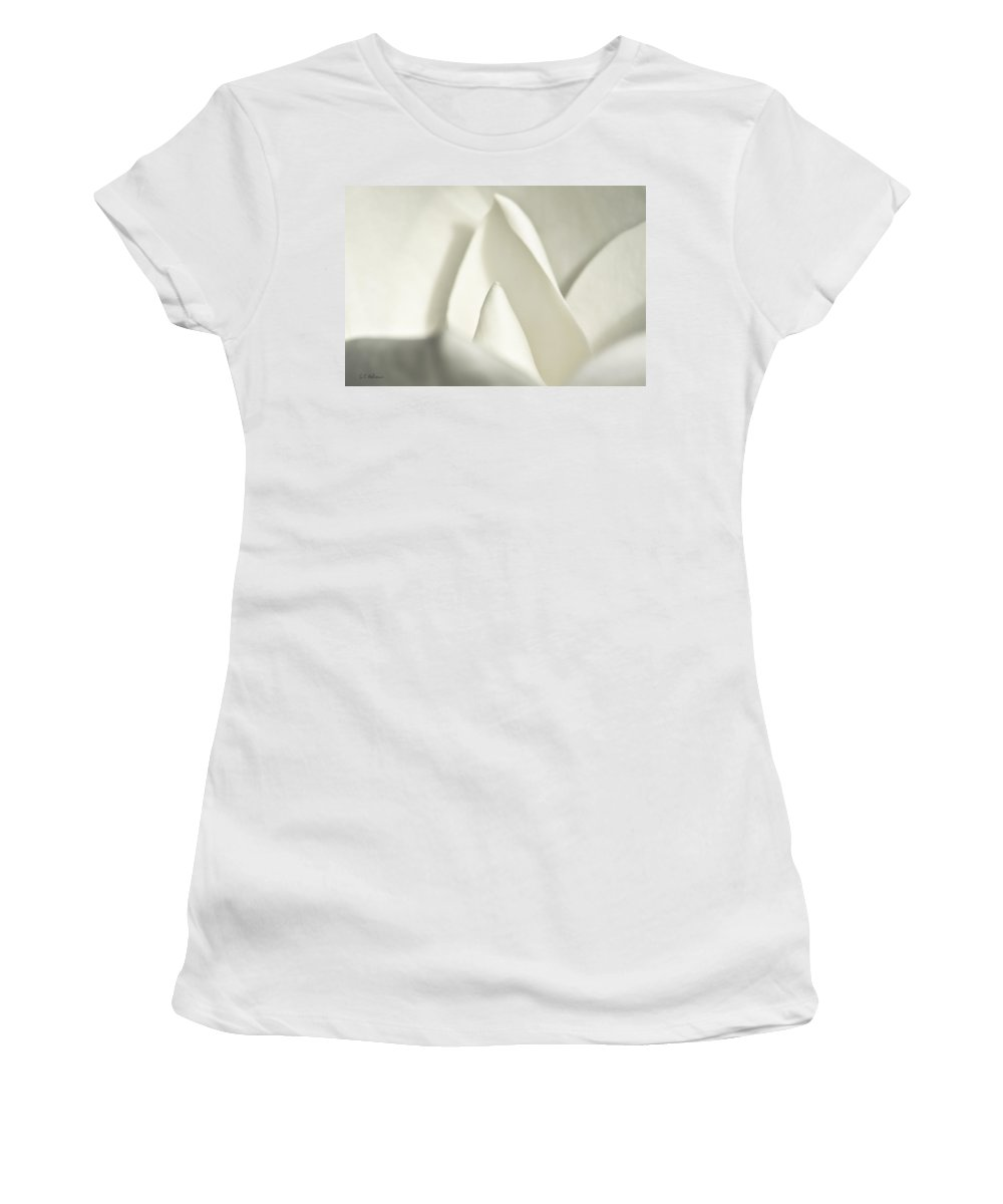 Magnolia Women's T-Shirt (Athletic Fit) featuring the photograph Soft Magnolia by Christopher Holmes