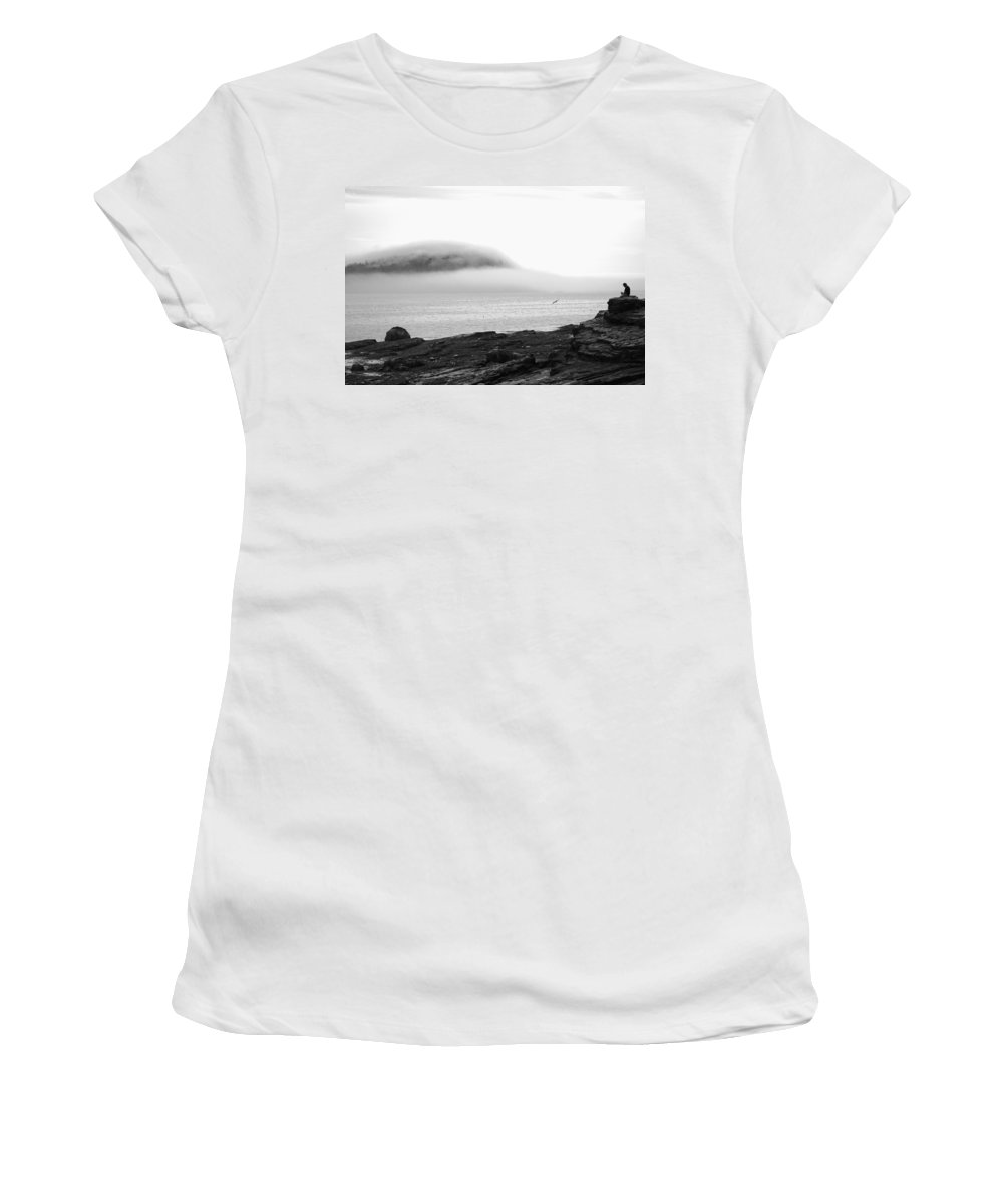 Solitude Women's T-Shirt featuring the photograph Solitude by Living Color Photography Lorraine Lynch