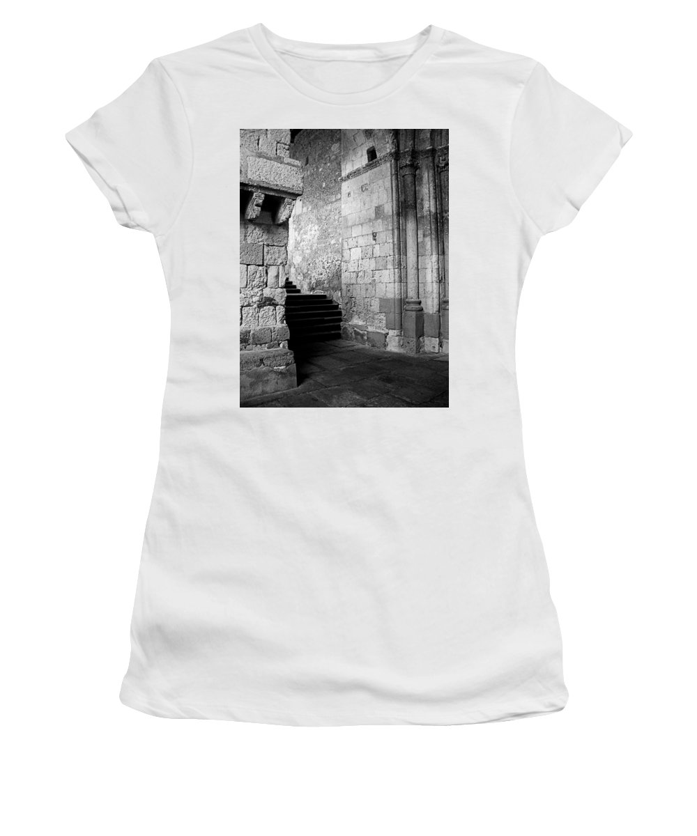 Spain Women's T-Shirt (Athletic Fit) featuring the photograph Somewhere In Segovia by Osvaldo Hamer