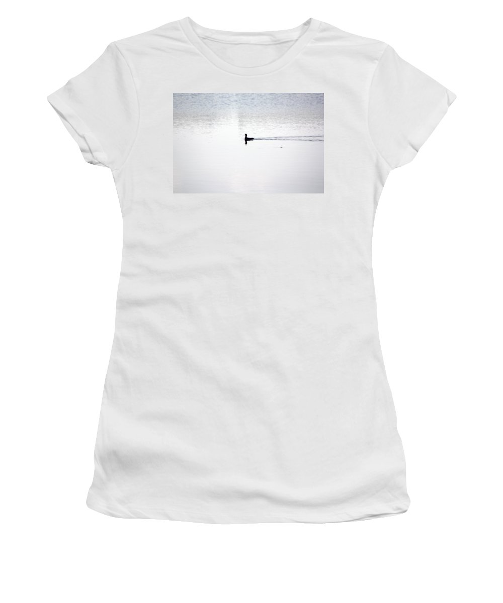 Duck Women's T-Shirt (Athletic Fit) featuring the photograph Soul Searching by Tamivision