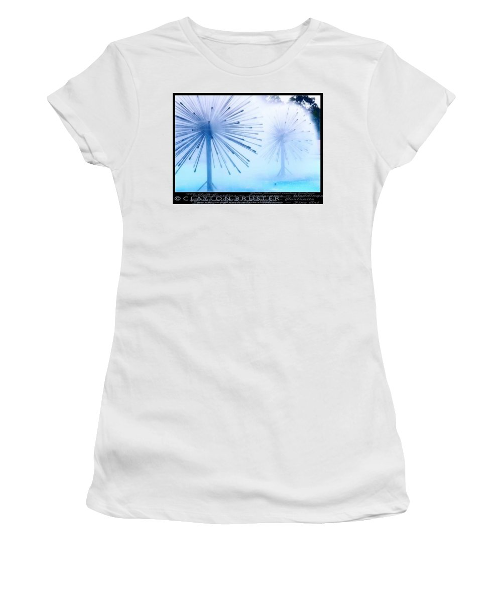 Clay Women's T-Shirt (Athletic Fit) featuring the photograph Southern California Fountains by Clayton Bruster