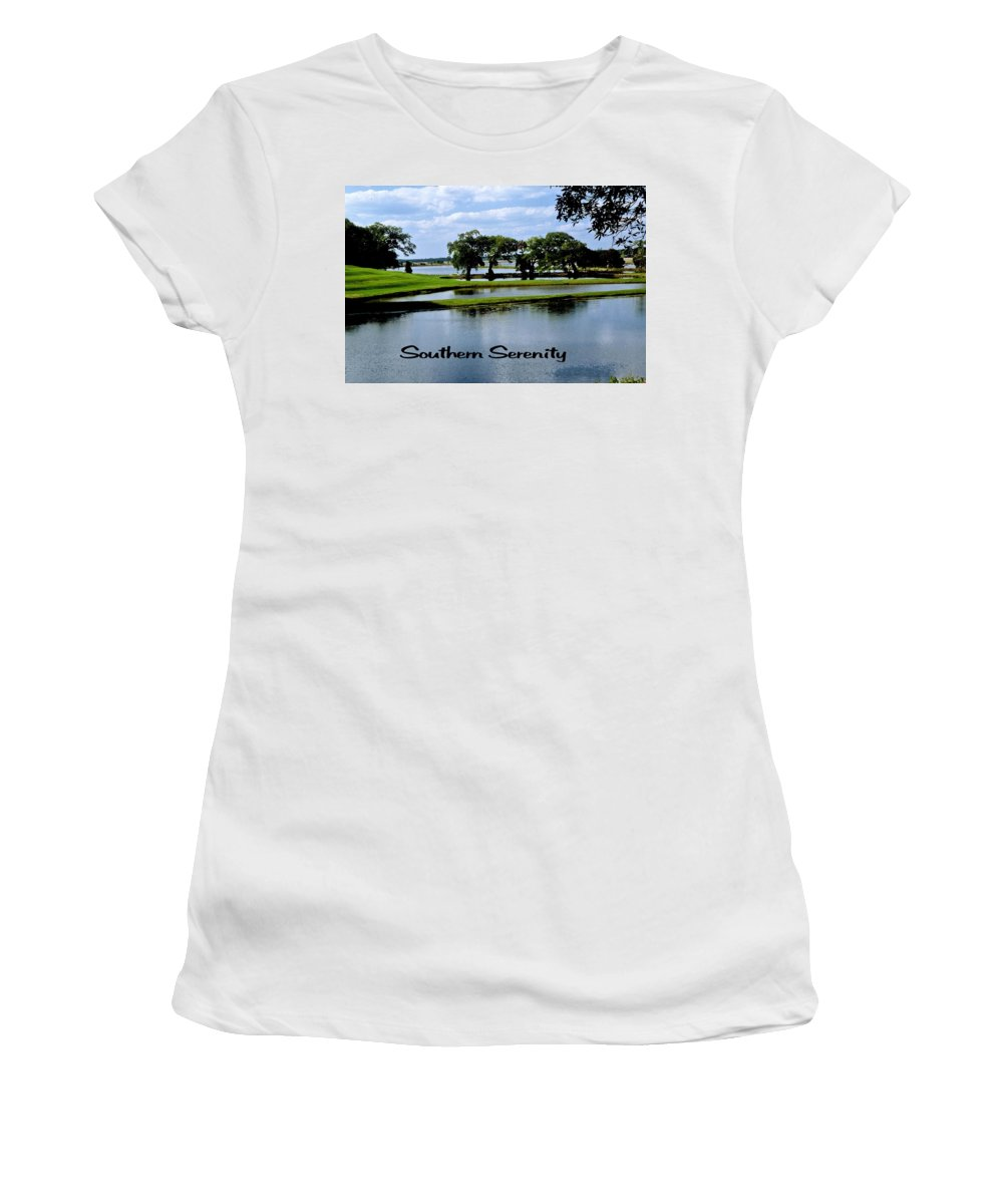 Lake Women's T-Shirt (Athletic Fit) featuring the photograph Southern Serenity by Gary Wonning