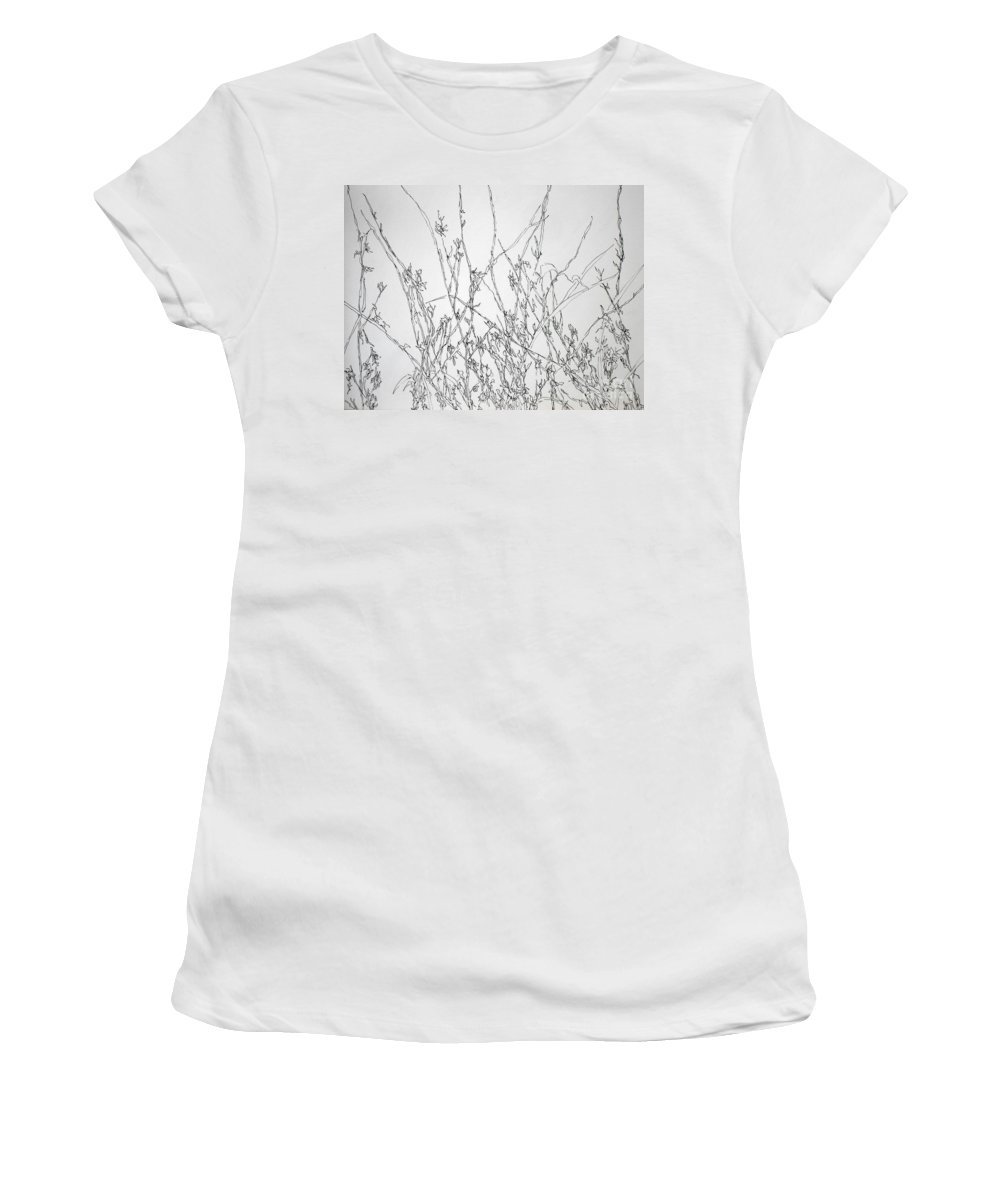Pen And Ink Women's T-Shirt featuring the painting Sparsely Beautiful by Vicki Housel