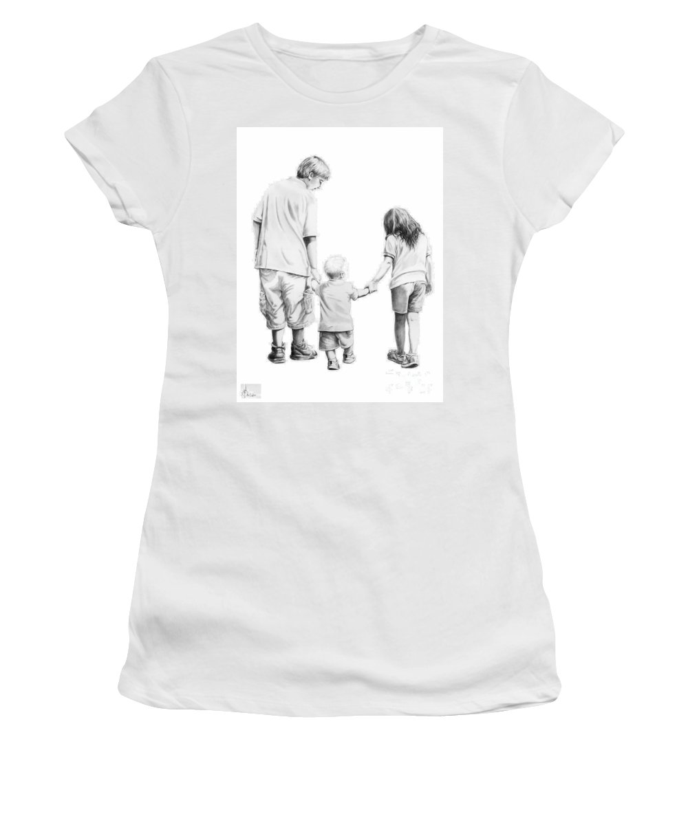 Figures Women's T-Shirt (Athletic Fit) featuring the drawing Special Children by Murphy Elliott