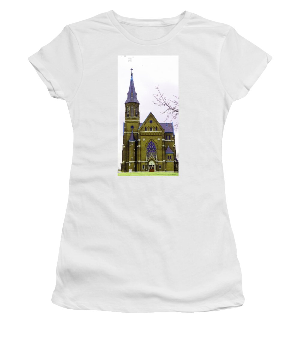Spire Women's T-Shirt (Athletic Fit) featuring the photograph Spire by Albert Stewart