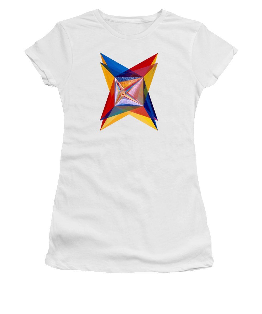 Painting Women's T-Shirt featuring the painting Splendor by Michael Bellon