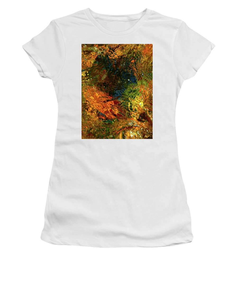 Color Close-up Landscape Women's T-Shirt (Athletic Fit) featuring the photograph Spring 2017 166 by George Ramos