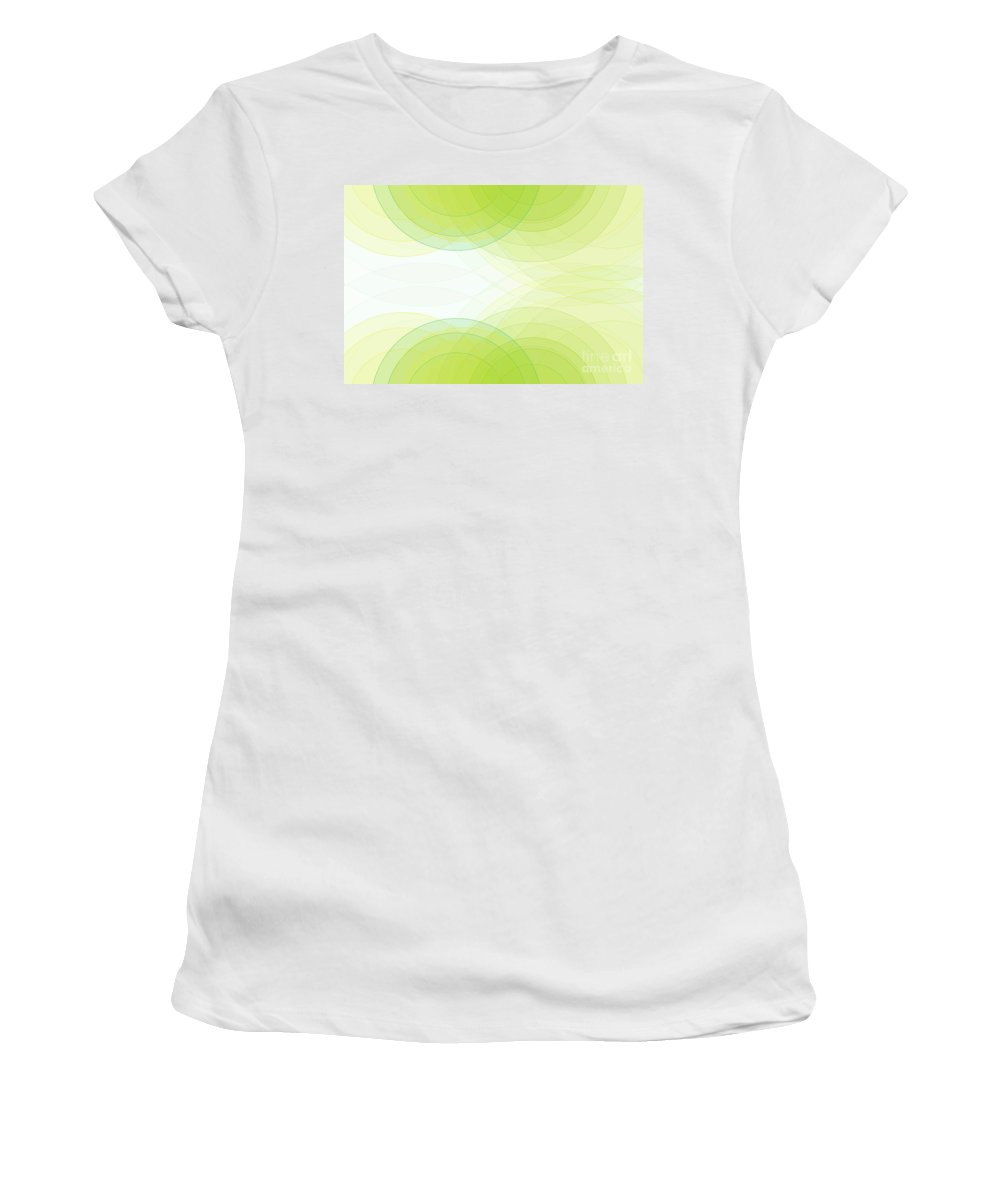 Abstract Women's T-Shirt (Athletic Fit) featuring the digital art Spring Semi Circle Background Horizontal by Frank Ramspott