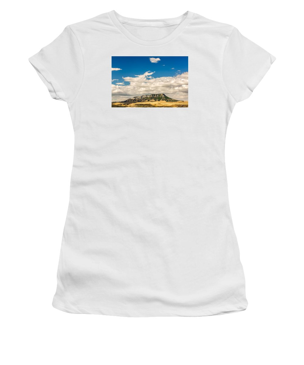 Landscape Women's T-Shirt featuring the photograph Square Butte by Todd Klassy