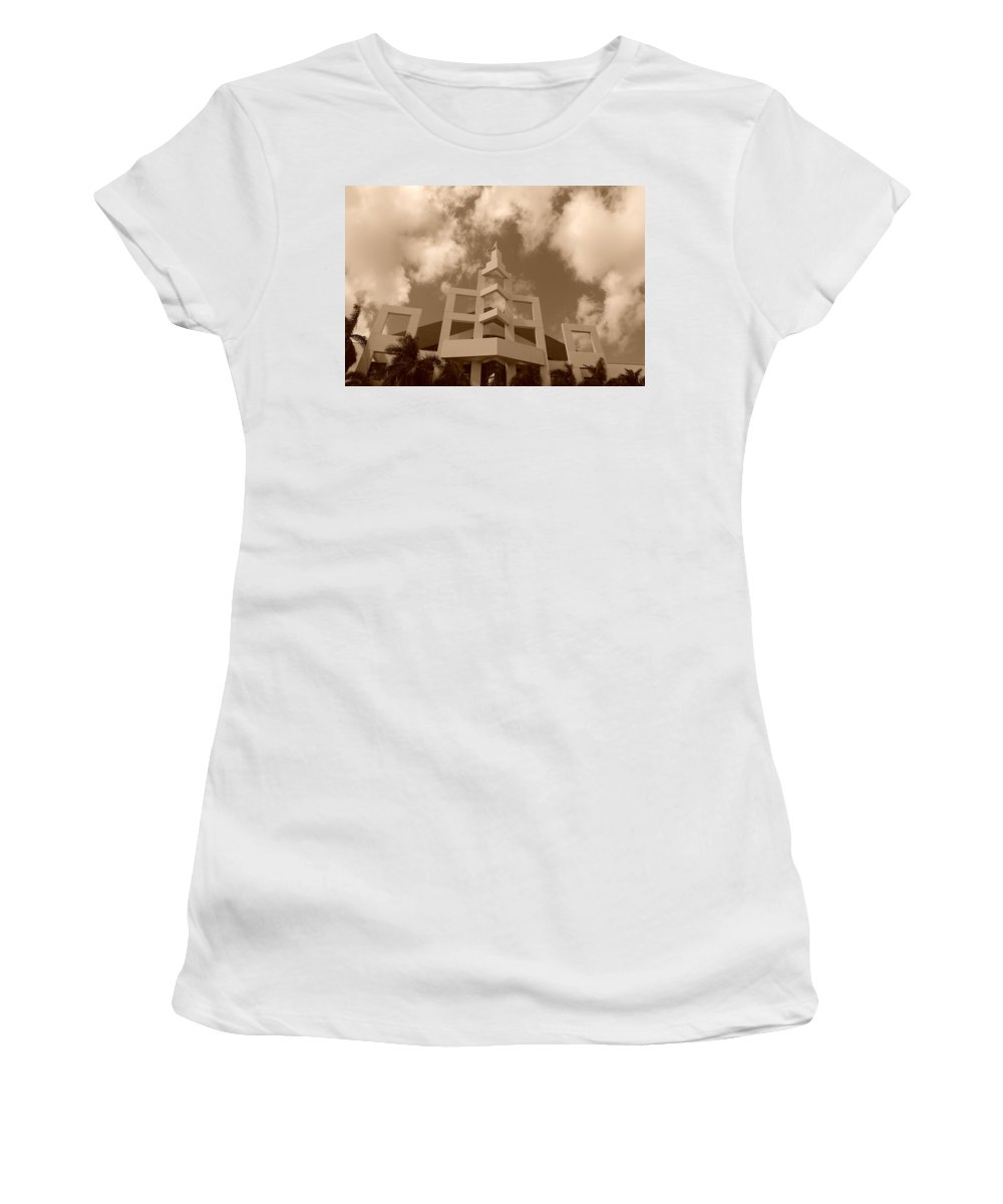 Architecture Women's T-Shirt (Athletic Fit) featuring the photograph Squares In The Sky by Rob Hans