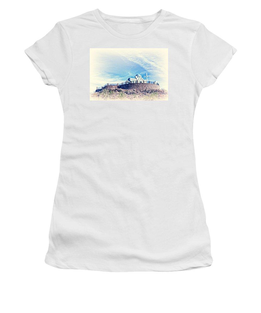 Florence Women's T-Shirt (Athletic Fit) featuring the photograph St. Elijah Chapel IIi by Matt Suess