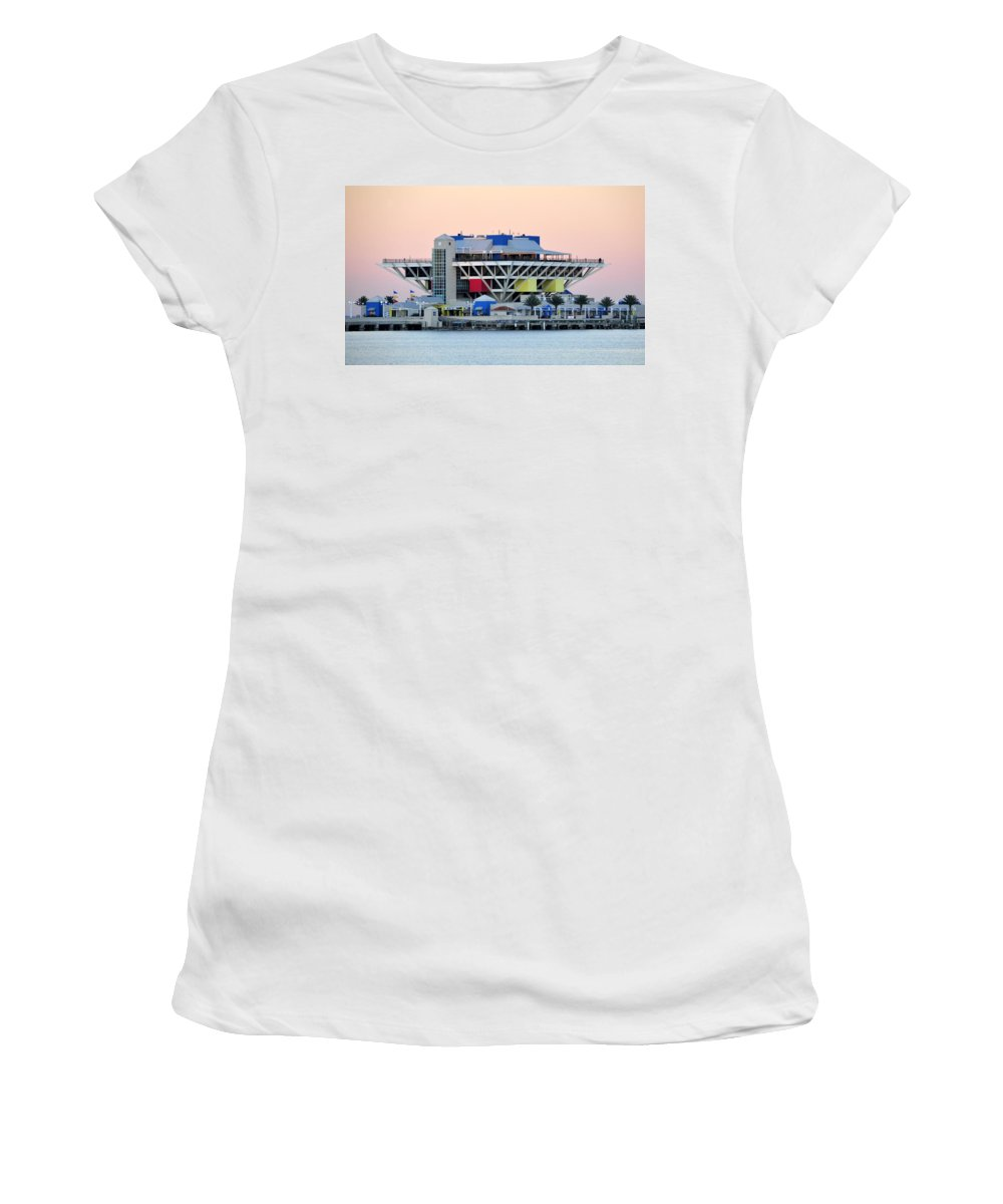 Pier Women's T-Shirt (Athletic Fit) featuring the photograph St. Petersburg Pier by David Lee Thompson