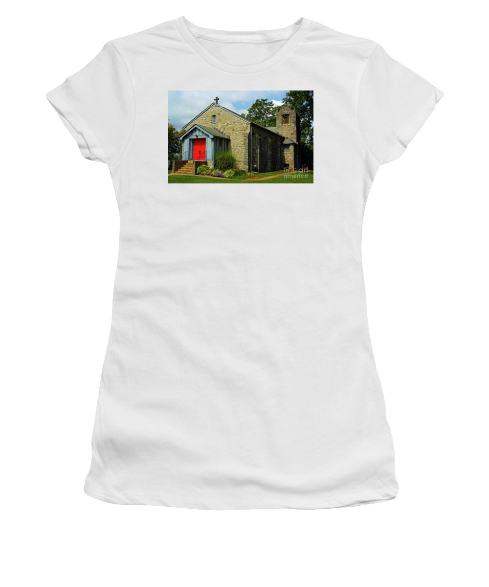 St. Timothy's Episcopal Church Women's T-Shirt featuring the photograph St. Timothy's Episcopal Church by Patti Whitten
