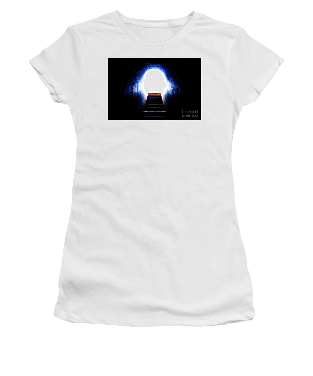 Abstract Photo Women's T-Shirt (Athletic Fit) featuring the photograph Stairway To Heaven by Onie Dimaano