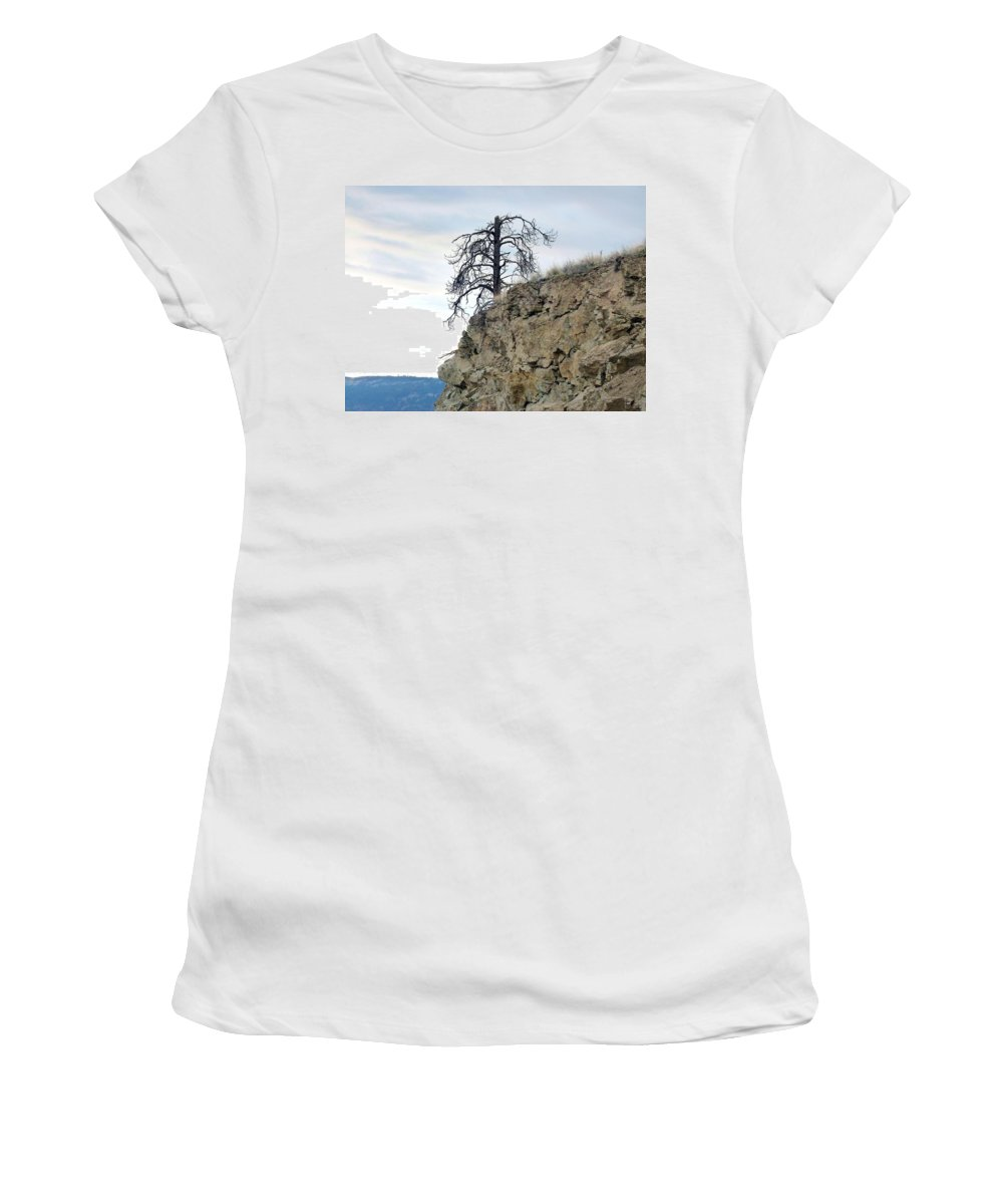 Pine Tree Women's T-Shirt (Athletic Fit) featuring the photograph Stalwart Pine Tree by Will Borden