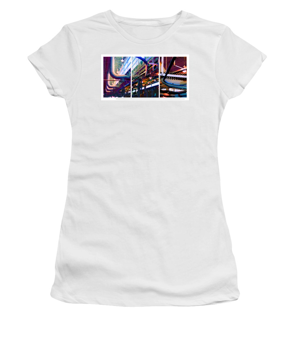 Abstract Women's T-Shirt (Athletic Fit) featuring the photograph Star Factory by Steve Karol