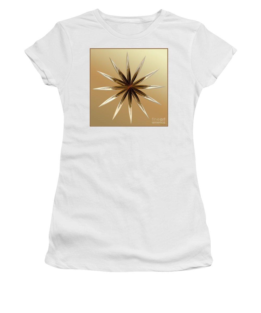 Digital Women's T-Shirt (Athletic Fit) featuring the digital art Star Tan by Deborah Benoit