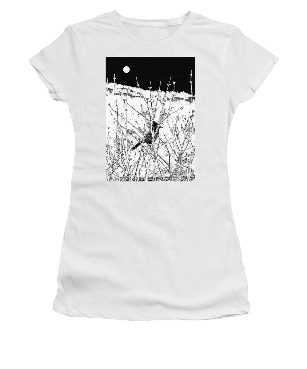 Stellar Jay Women's T-Shirt (Athletic Fit) featuring the digital art Stellar Jay  by Will Borden