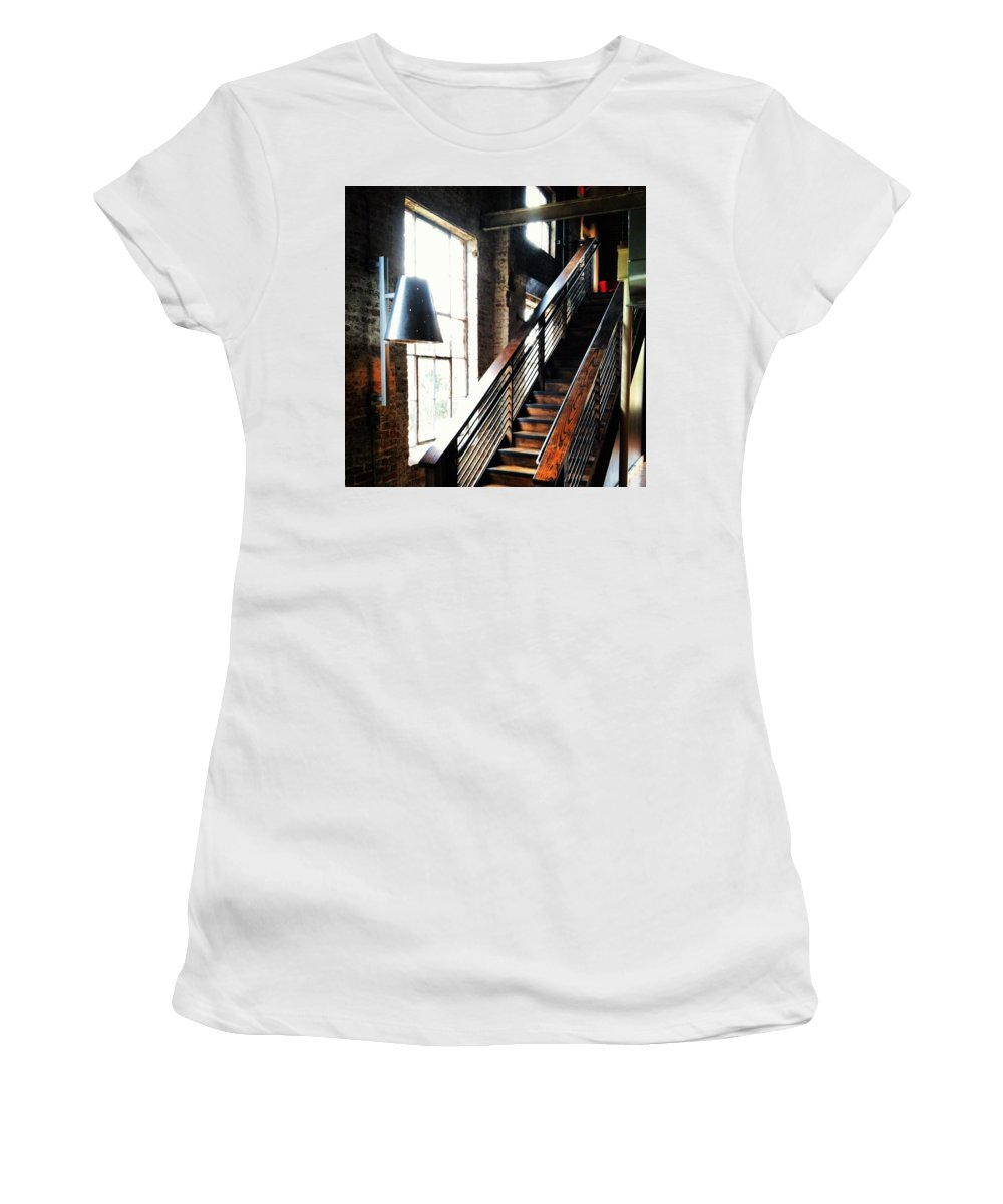 Warehouse Women's T-Shirt (Athletic Fit) featuring the photograph Steps by Artie Rawls