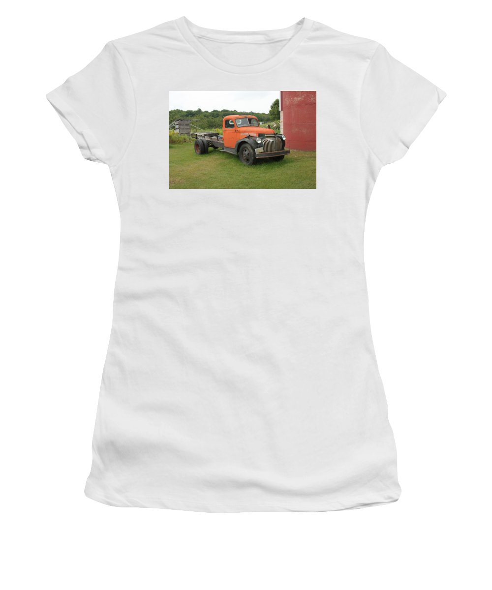 Car Women's T-Shirt (Athletic Fit) featuring the photograph Still Working by Ira Marcus