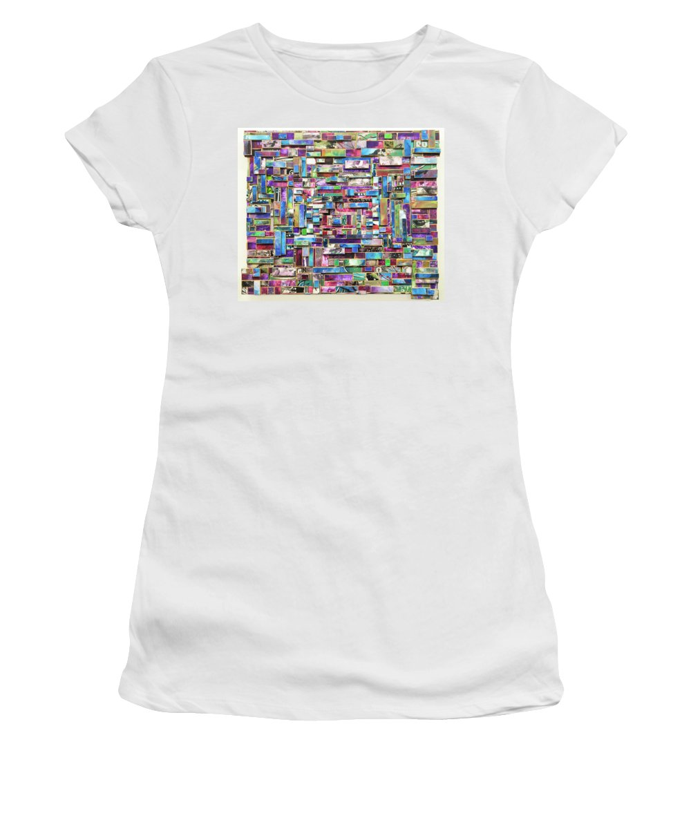 Street Art Women's T-Shirt featuring the painting Stolen Moments by Bobby Zeik