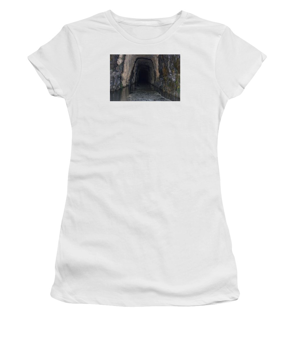 Stomp House Tunnel Women's T-Shirt (Athletic Fit) featuring the photograph Stomp House Tunnel by Frank Conrad