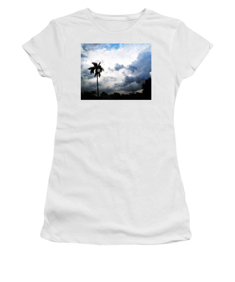 Florida Women's T-Shirt (Athletic Fit) featuring the photograph Storm Brewing by Chris Andruskiewicz