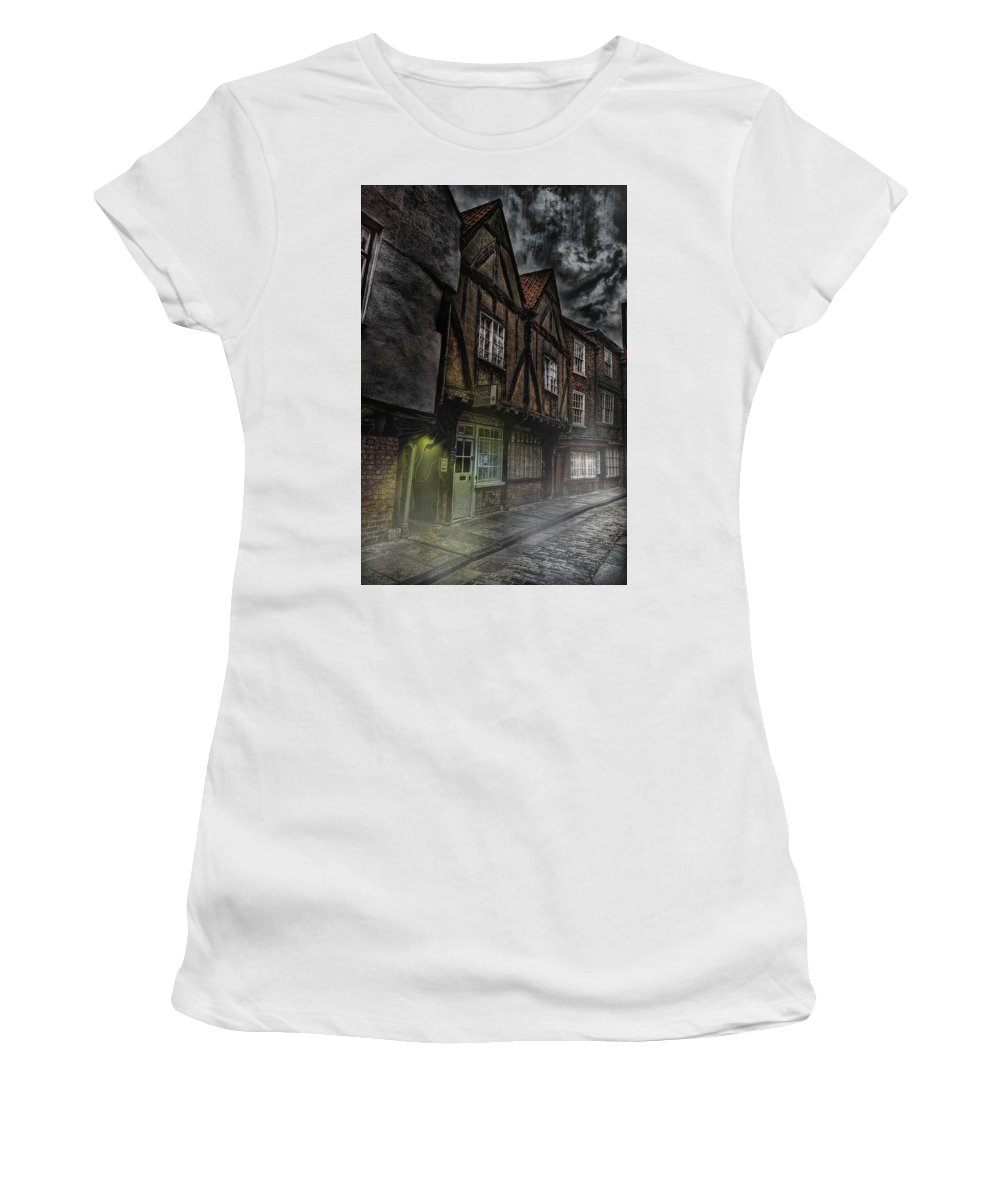 Stormy Women's T-Shirt (Athletic Fit) featuring the mixed media Stormy Shambles by Mark Hunter