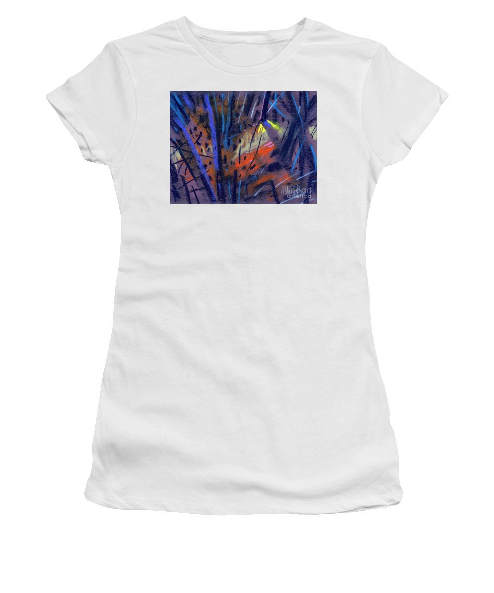 Abstract Women's T-Shirt (Athletic Fit) featuring the drawing strange Lights by Donald Maier