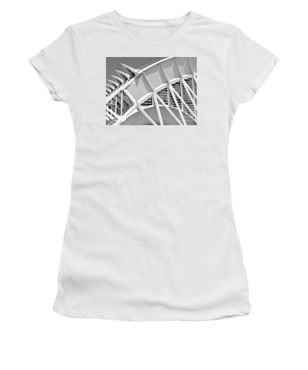 Black And White Women's T-Shirt featuring the photograph Stunning Structure - Black And White by GabeZ Art