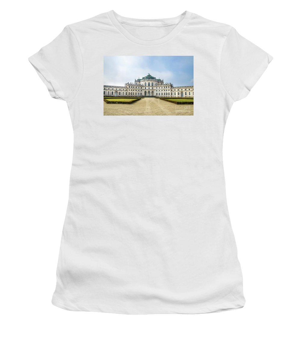 Alfieri Women's T-Shirt featuring the photograph Stupinigi Palace - Turin - Piedmont Italy Region by Luca Lorenzelli
