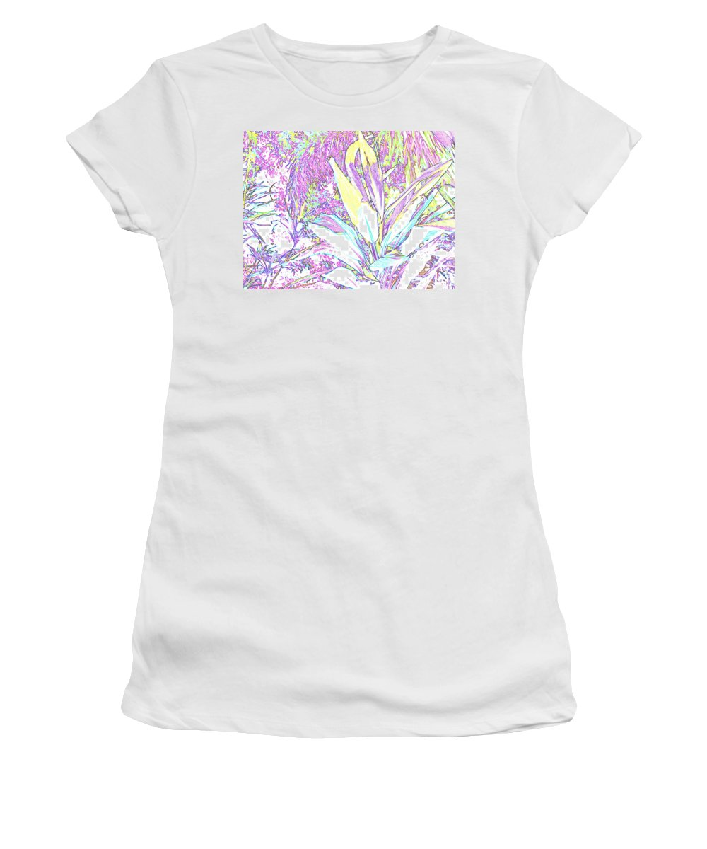 Abstract Women's T-Shirt (Athletic Fit) featuring the photograph Subtle Leaf by Ian MacDonald