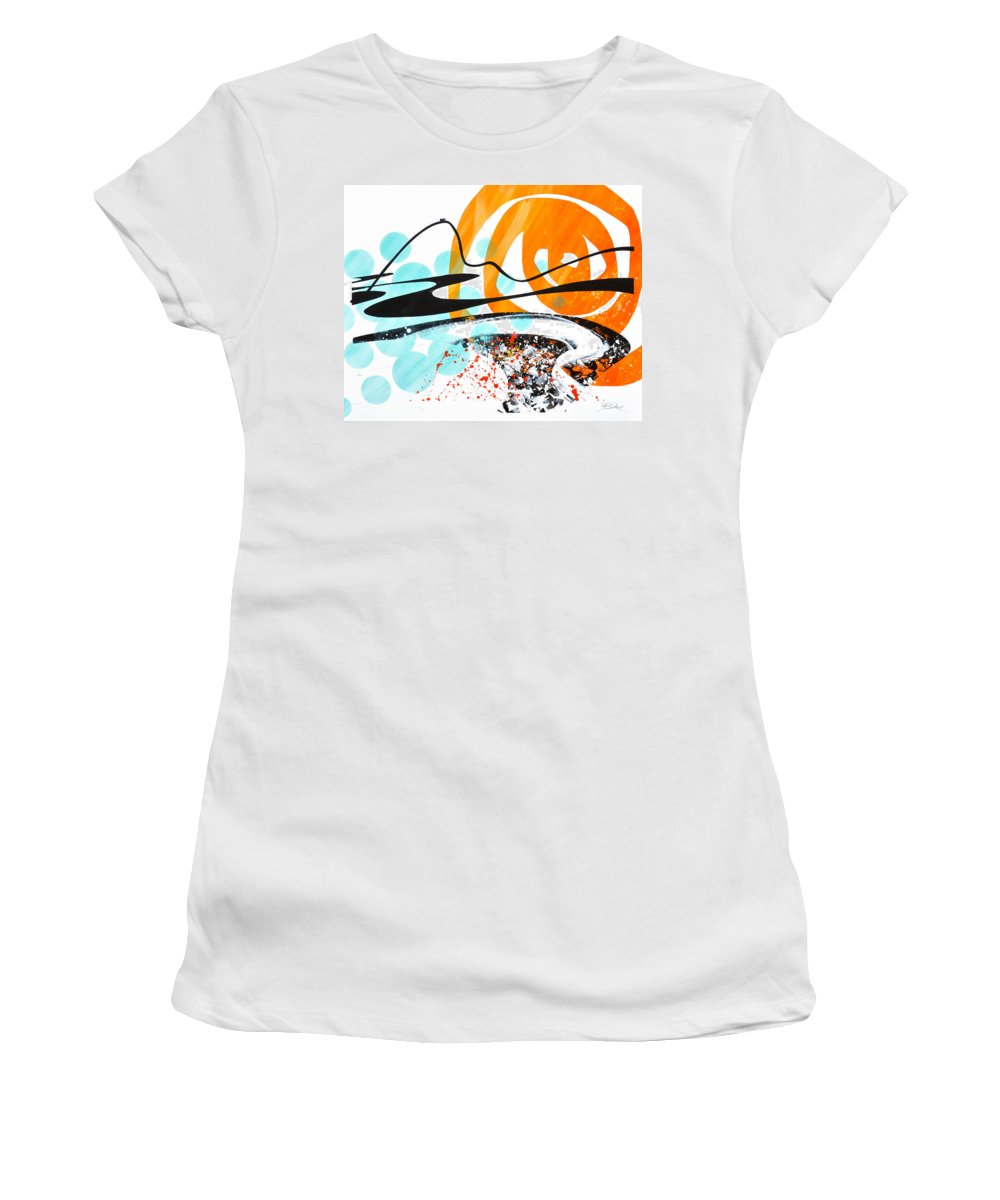 Rio Women's T-Shirt featuring the painting Sugar Loaf by Jean Pierre Rousselet