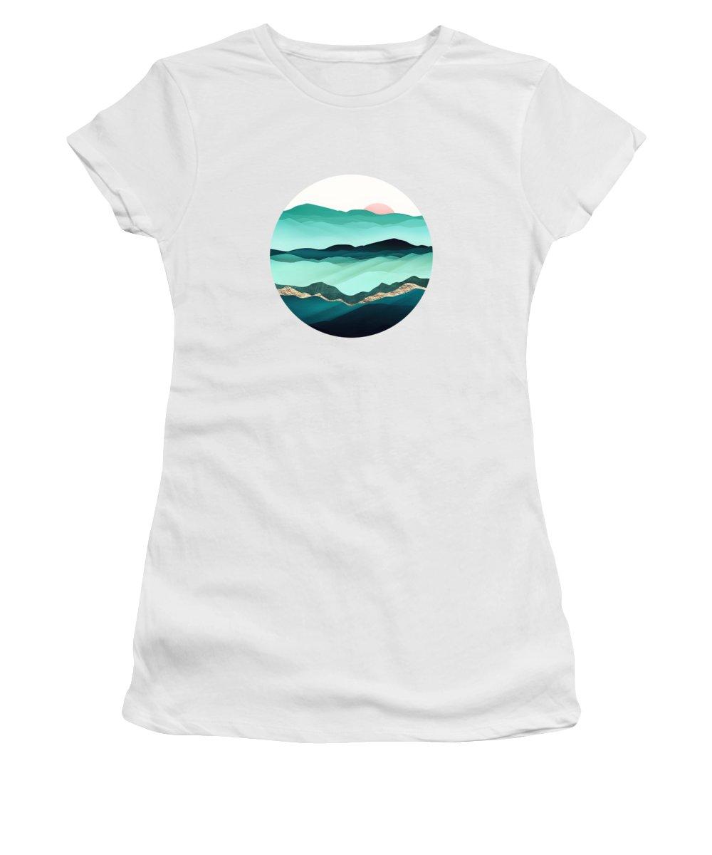 Summer Women's T-Shirt featuring the digital art Summer Hills by Spacefrog Designs
