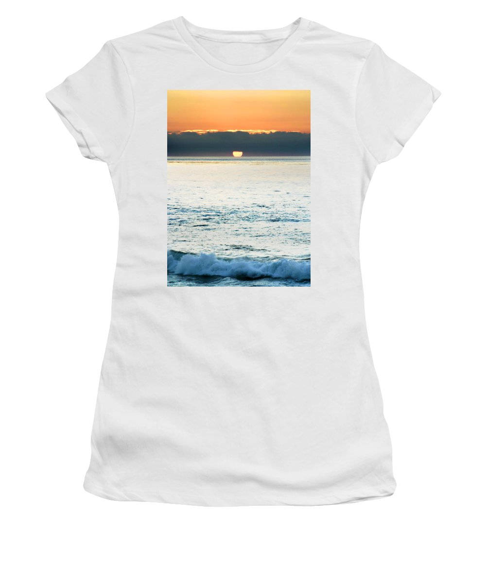 Sunset Women's T-Shirt (Athletic Fit) featuring the photograph Sundown by Anthony Jones