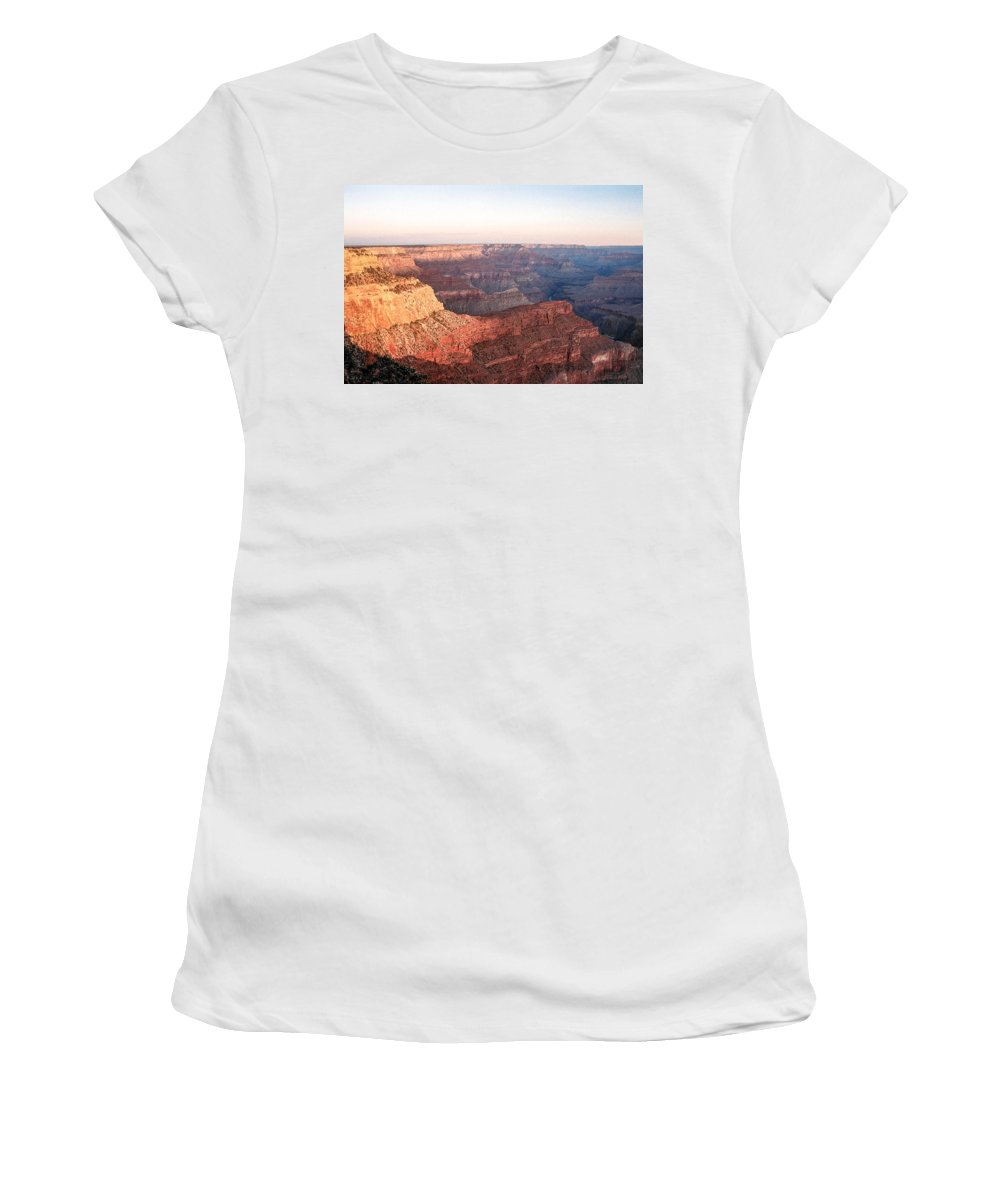 Sunrise Women's T-Shirt featuring the photograph Sunrise At Pima Point 2 by Mike Wheeler