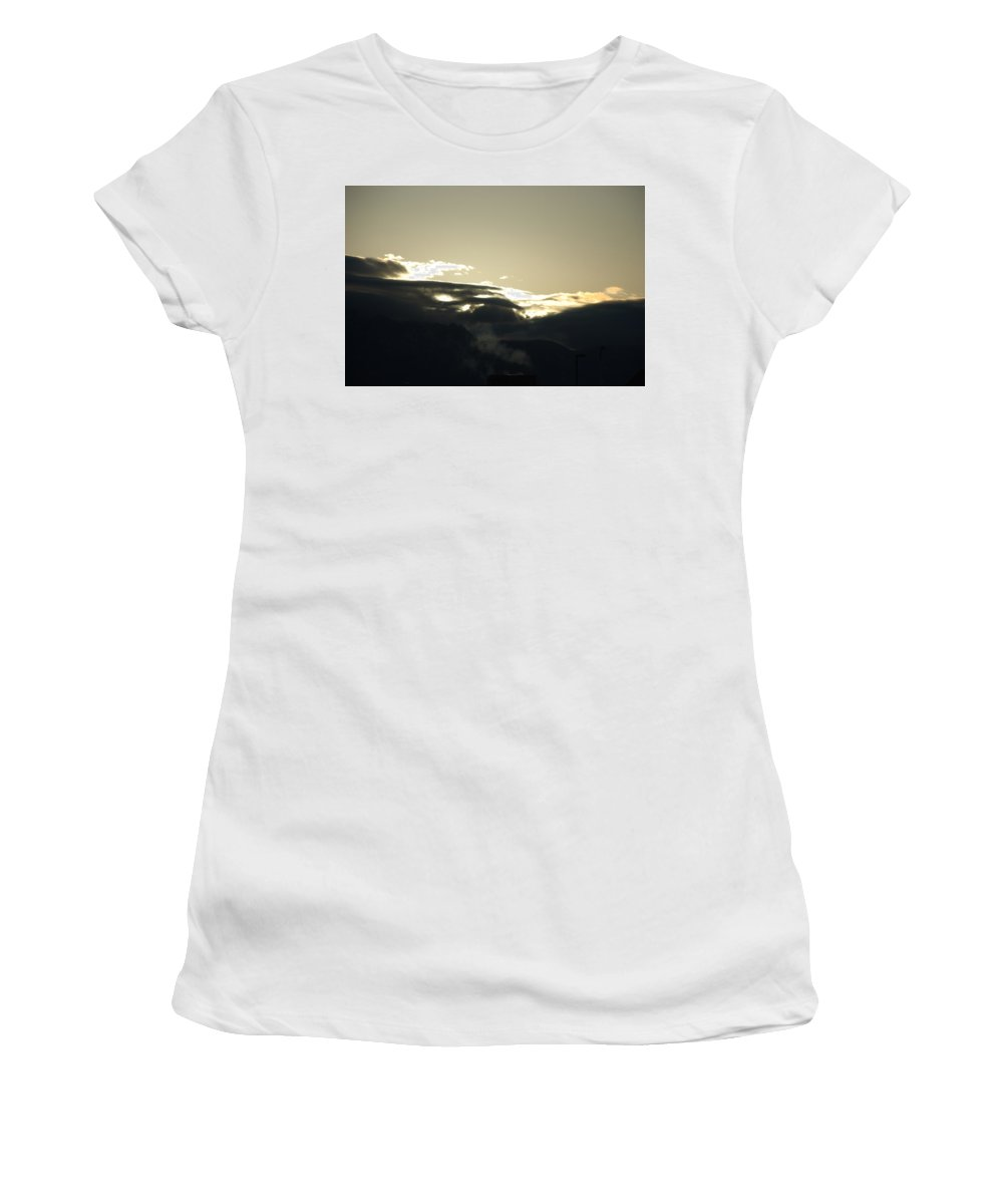 Sunrise Women's T-Shirt (Athletic Fit) featuring the photograph Sunrise Over The Sandias by Rob Hans